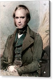 Portrait Of Charles Darwin Acrylic Print by George Richmond