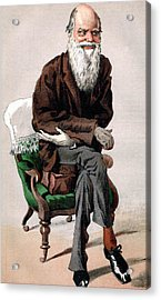 Portrait Of Charles Darwin Acrylic Print by James Jacques Joseph Tissot