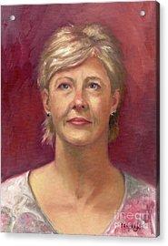 Portrait Of Cheryl Acrylic Print by Terri  Meyer