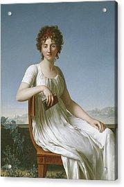 Portrait Of Constance Pipelet Acrylic Print by Jean Baptiste Francois Desoria