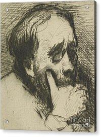 Portrait Of Edgar Degas Acrylic Print by Marcellin Gilbert Desboutin