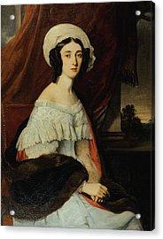 Portrait Of Eugnie Gabrielle Acrylic Print by Alexandre