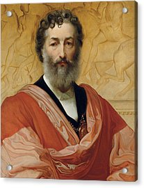 Portrait Of Frederic Leighton Acrylic Print by Paolo Fossi