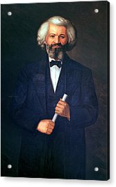 Portrait Of Frederick Douglass Acrylic Print by American School