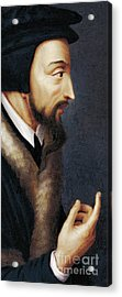 Portrait Of French Theologian And Religious Reformer, John Calvin  Acrylic Print