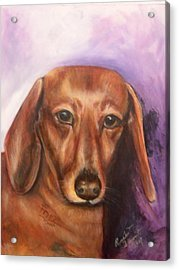 Portrait Of Fritz - Commissions Accepted Acrylic Print by Renee Dumont  Museum Quality Oil Paintings  Dumont