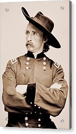 Portrait Of General George A Custer Acrylic Print