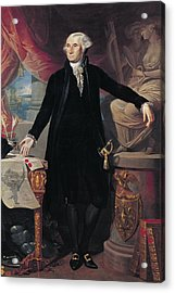 Portrait Of George Washington Acrylic Print by Joes Perovani