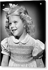 Portrait Of Girl Indoor Acrylic Print by George Marks