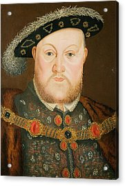 Portrait Of Henry Viii Acrylic Print by English School