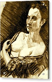 Portrait Of Jacqueline Acrylic Print by Dan Earle