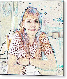 Portrait Of Janet Acrylic Print