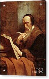 Portrait Of Jean Calvin Acrylic Print