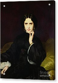 Portrait Of Jeanne De Tourbay Acrylic Print by Eugene Emmanuel Amaury-Duval