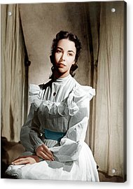 Portrait Of Jennie, Jennifer Jones, 1948 Acrylic Print by Everett