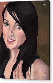 Portrait Of Jessa Acrylic Print