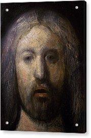 Portrait Of Jesus Christ Detail Acrylic Print by Derek Van Derven