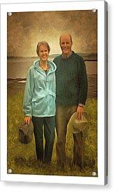 Portrait Of Joe And Denise Acrylic Print