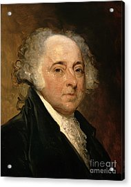 Portrait Of John Adams Acrylic Print by Gilbert Stuart