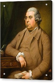 Portrait Of John Thornton Esq Acrylic Print by Thomas Gainsborough