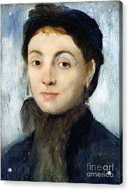 Portrait Of Josephine Gaujelin Acrylic Print by Edgar Degas