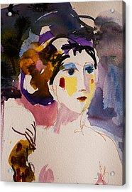 Portrait Of Joy Acrylic Print by Amara Dacer
