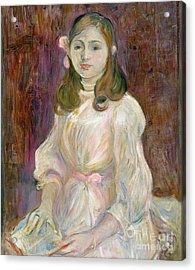 Portrait Of Julie Manet Acrylic Print by Berthe Morisot