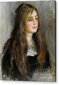 Portrait Of Julie Manet  Acrylic Print by Pierre Auguste Renoir