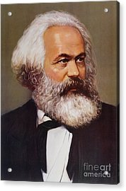 Portrait Of Karl Marx Acrylic Print by Unknown