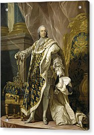 Portrait Of Louis Xv Of France Acrylic Print