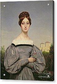 Portrait Of Louise Vernet Acrylic Print by Emile Jean Horace Vernet