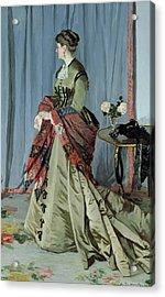 Portrait Of Madame Louis Joachim Gaudibert Acrylic Print
