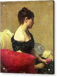 Portrait Of Madame Maitre Acrylic Print by Ignace Henri Jean Fantin Latour