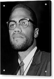 Portrait Of Malcolm X. 1964-65 Acrylic Print