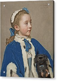 Portrait Of Maria Frederike Van Reede-athlone At Seven Years Of Age Acrylic Print