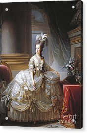 Portrait Of Marie Antoinette Acrylic Print by Elisabeth Louise Vigee-Lebrun