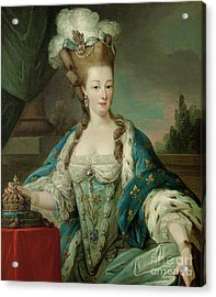 Portrait Of Marie-antoinette, Half-length, In Coronation Robes Acrylic Print