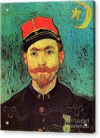 Portrait Of Milliet, Second Lieutenant Of The Zouaves Acrylic Print by Vincent Van Gogh