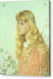 Portrait Of Miss Adele Donaldson, 1897 Acrylic Print by Anthony Frederick Augustus Sandys
