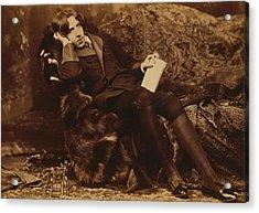 Portrait Of Oscar Wilde Acrylic Print by Sarony Napoleon