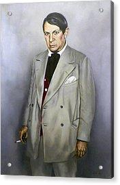 Portrait Of Pablo Picasso Acrylic Print