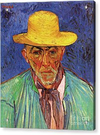 Portrait Of Patience Escalier, Shepherd In Provence Acrylic Print by Vincent Van Gogh