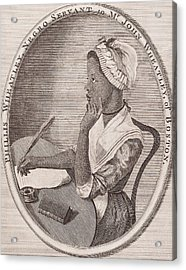 Portrait Of Phillis Wheatley Acrylic Print by American School