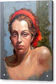 Portrait Of Phoebe Acrylic Print by Roz McQuillan