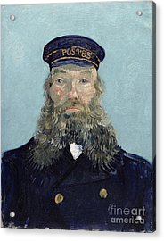 Portrait Of Postman Roulin Acrylic Print by Vincent van Gogh