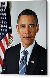 portrait of President Barack Obama Acrylic Print by MotionAge Designs