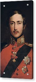Portrait Of Prince Albert Acrylic Print by John Lucas