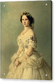 Portrait Of Princess Of Baden Acrylic Print by Franz Xaver Winterhalter