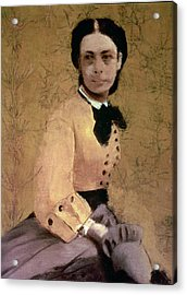 Portrait Of Princess Pauline De Metternich Acrylic Print by Edgar Degas