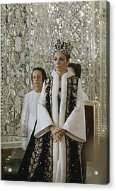 Portrait Of Queen Farah Pahlavi Dressed Acrylic Print by James L Stanfield